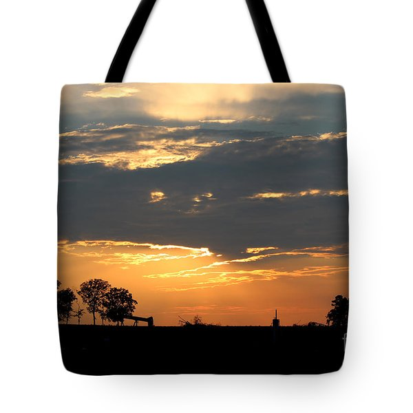 Tote Bag featuring the photograph Texas Sized Sunset by Kathy  White