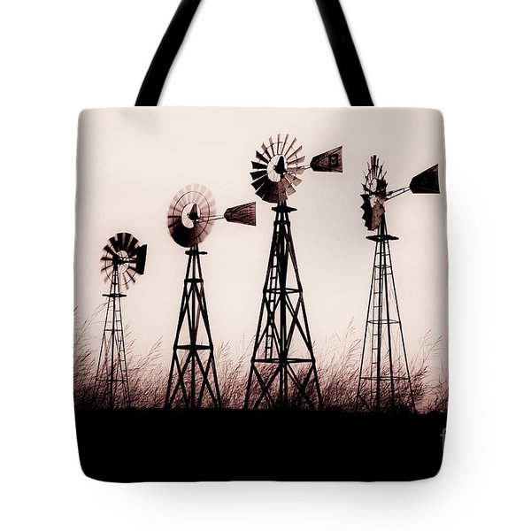 Texas Windmills Tote Bag by Tamyra Ayles