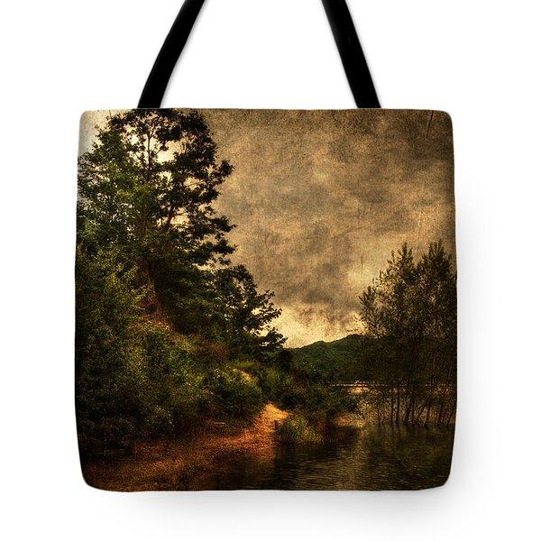 Textured Lake Tote Bag