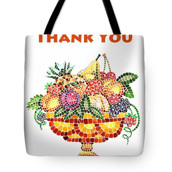 Thank You Card Fruit Vase Tote Bag by Irina Sztukowski
