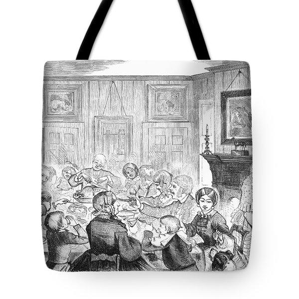 Thanskgiving Dinner, 1857 Tote Bag by Granger