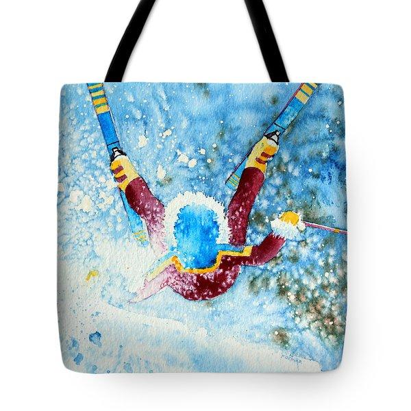 The Aerial Skier - 14 Tote Bag by Hanne Lore Koehler
