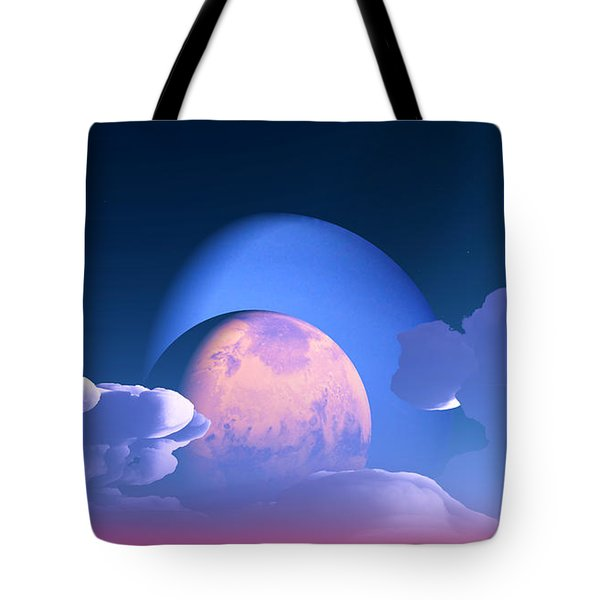 Tote Bag featuring the digital art The Alignment... by Tim Fillingim