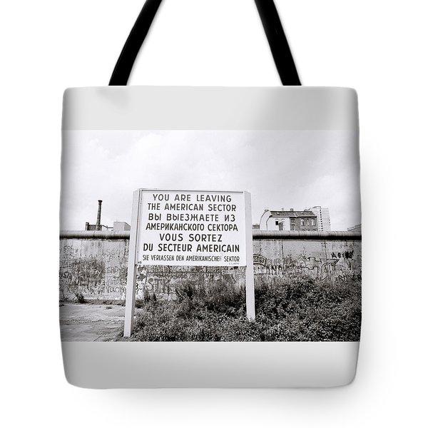 Berlin Wall American Sector Tote Bag