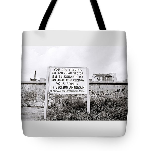Berlin Wall American Sector Tote Bag