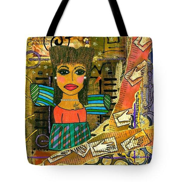 The Angel Of Fond Memories Tote Bag by Angela L Walker