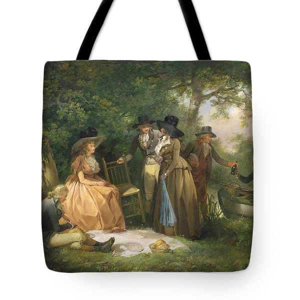 The Angler's Repast  Tote Bag by George Morland