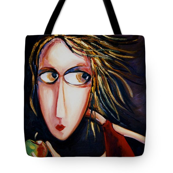 Tote Bag featuring the painting The Apple by Leanne Wilkes