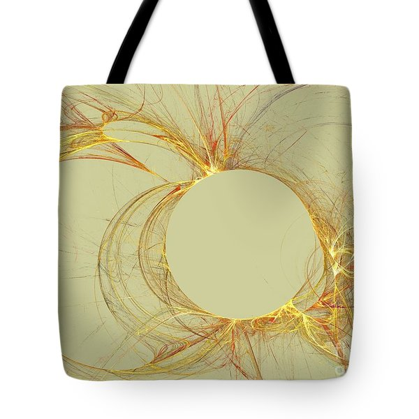 Tote Bag featuring the digital art The Arcs by Kim Sy Ok