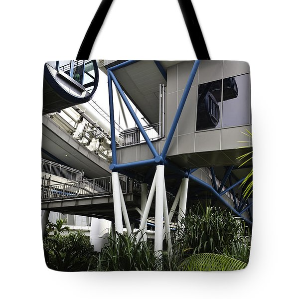 The Area Below The Capsules Of The Singapore Flyer Tote Bag by Ashish Agarwal