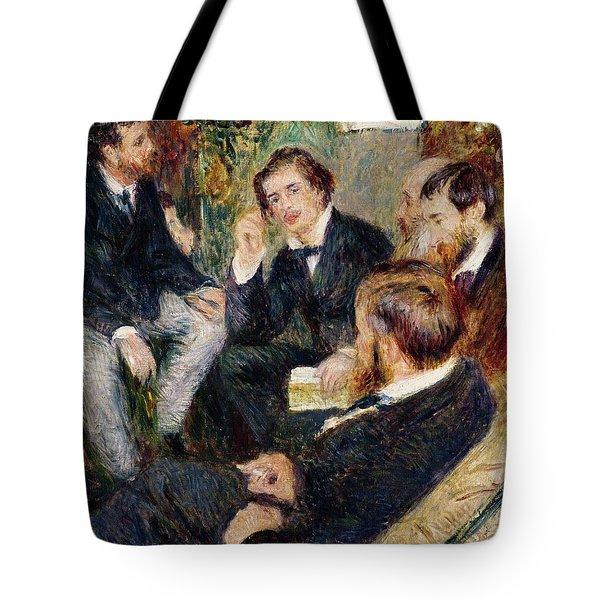 The Artist's Studio Rue Saint Georges Tote Bag by Pierre Auguste Renoir