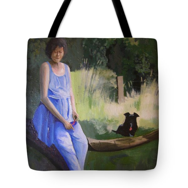 The Artist's Wife With Jasper Tote Bag