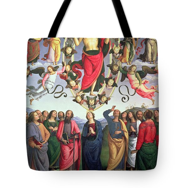 The Ascension Of Christ Tote Bag by Pietro Perugino