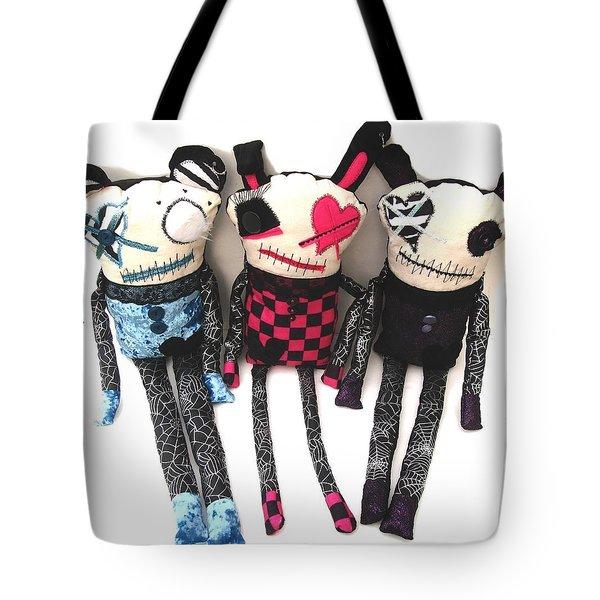 The Ax Trio Tote Bag by Oddball Art Co by Lizzy Love