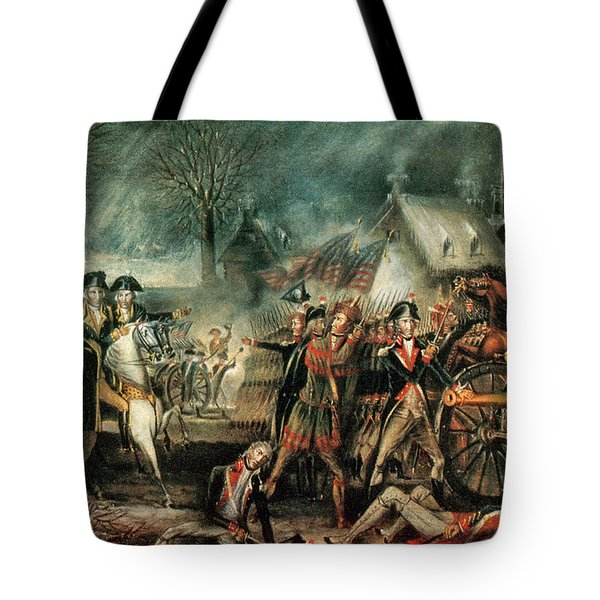 The Battle Of Trenton 1776 Tote Bag by Photo Researchers