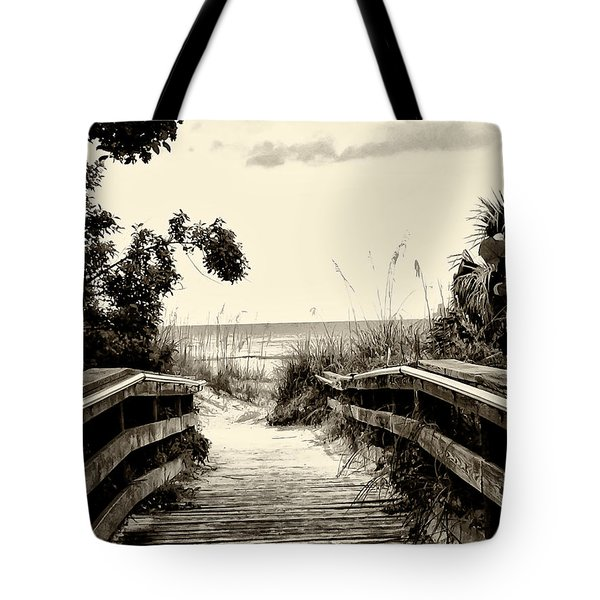 The Beach Path - Clearwater Beach Tote Bag by Bill Cannon