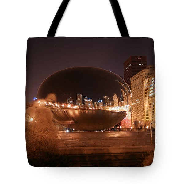 The Bean On A Winter Night Tote Bag
