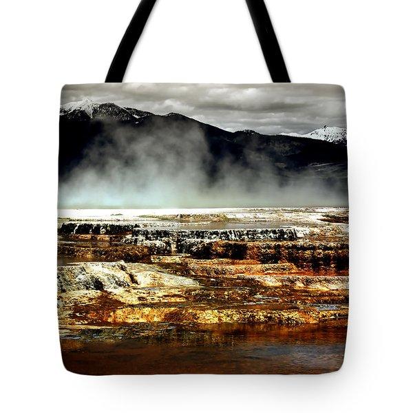 The Beauty Of Yellowstone Tote Bag by Ellen Heaverlo