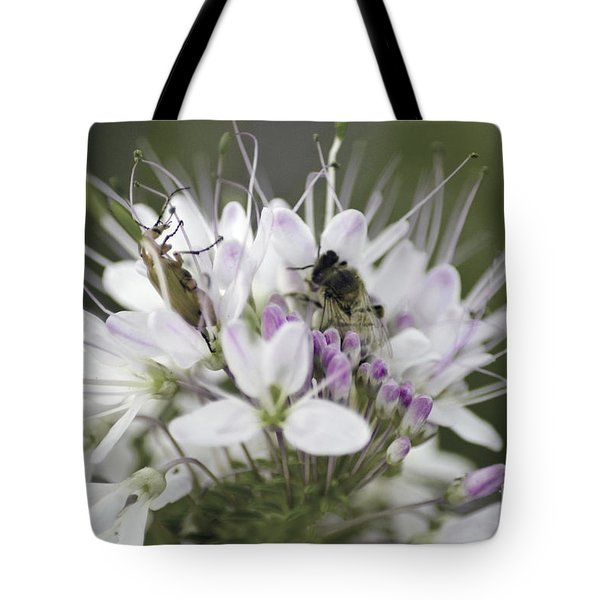 The Beetle And The Bee Tote Bag