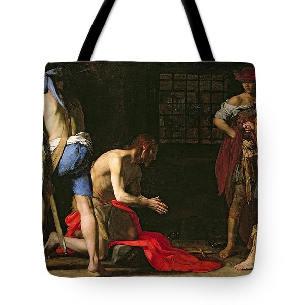 The Beheading Of John The Baptist Tote Bag by Massimo Stanzione