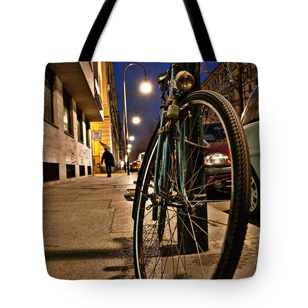 Tote Bag featuring the photograph The Bicycle by Sonny Marcyan