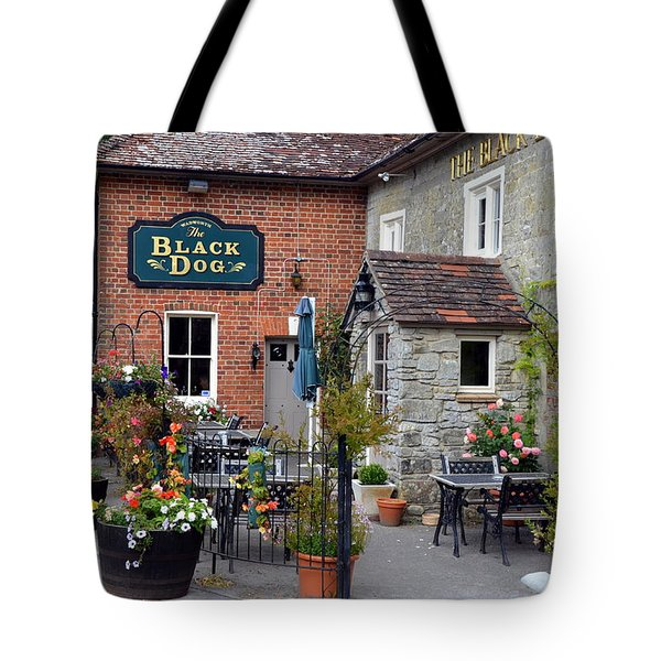 The Black Dog Pub Tote Bag by Carla Parris