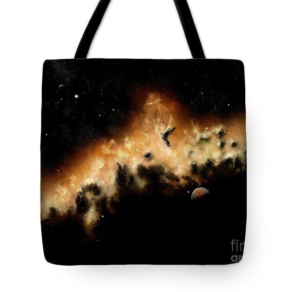 The Blast Wave Of A Nova Pulls Away Tote Bag by Brian Christensen