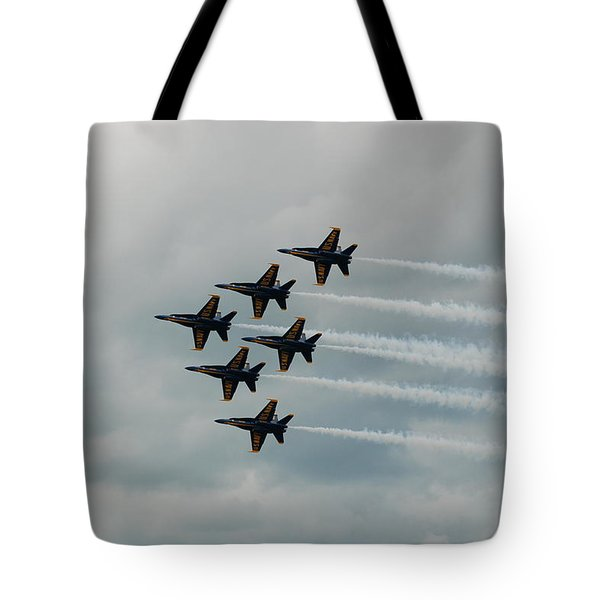 The Blue Angels Tote Bag by Randy J Heath