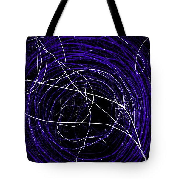 The Blue Barb Tote Bag