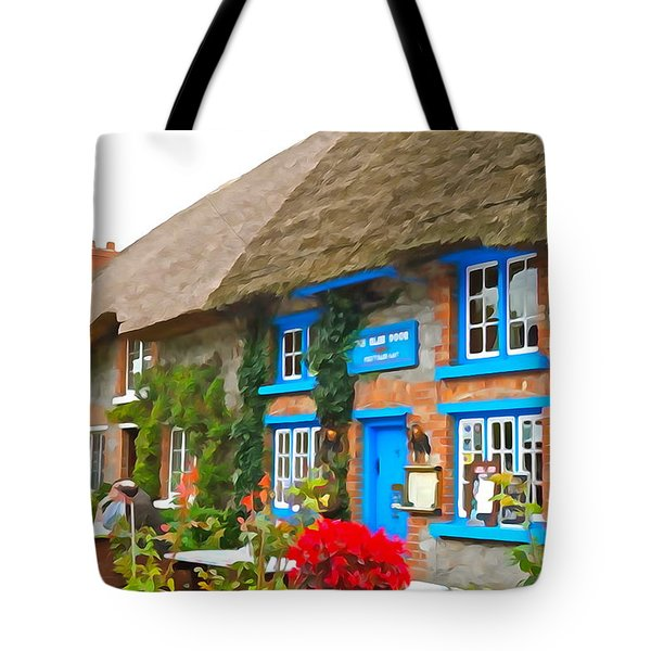 Tote Bag featuring the photograph The Blue Door by Charlie and Norma Brock