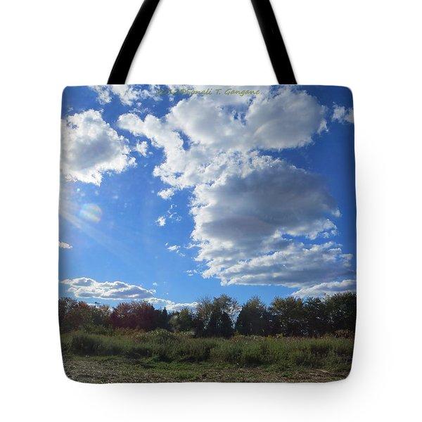 The Blue Element Tote Bag by Sonali Gangane