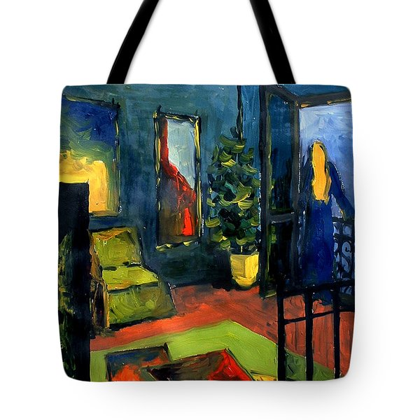 The Blue Room Tote Bag by Mona Edulesco