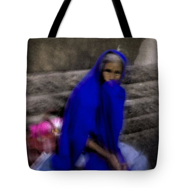 The Blue Shawl Tote Bag by Lynn Palmer