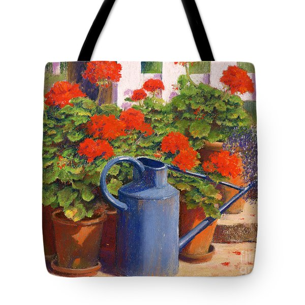 The Blue Watering Can Tote Bag