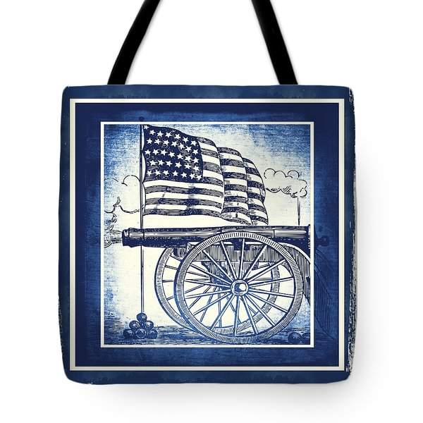 The Bombs Bursting In Air Blue Tote Bag by Angelina Vick