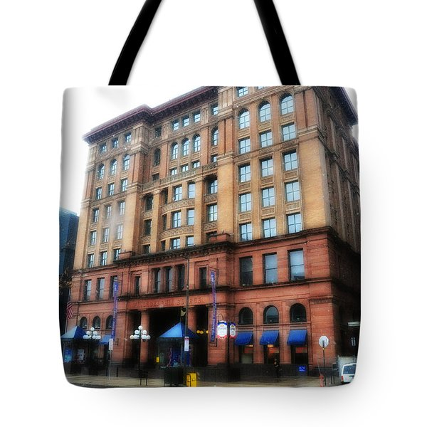 The Bourse Building Philadelphia Tote Bag by Bill Cannon