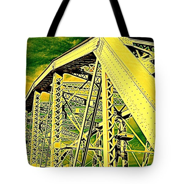 The Bridge To The Skies Tote Bag by Susanne Van Hulst