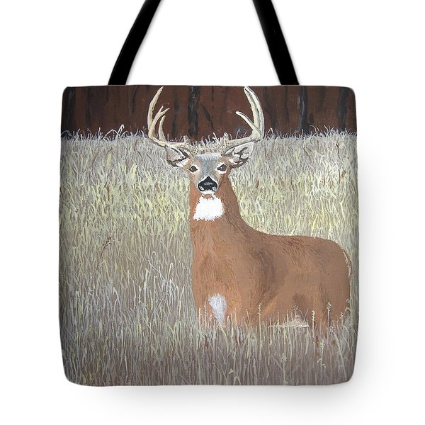 Tote Bag featuring the painting The Buck Stops Here by Norm Starks