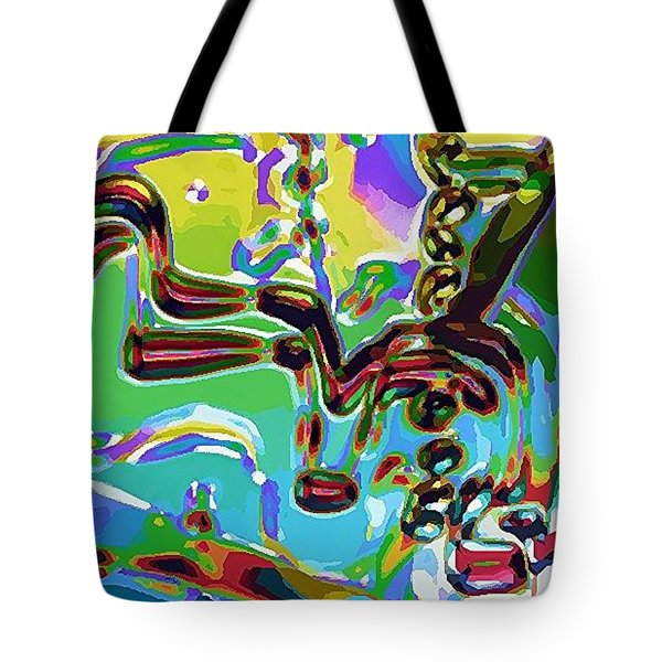Tote Bag featuring the digital art The Bull Fighter by Alec Drake