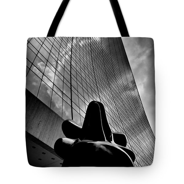 Tote Bag featuring the photograph The Bull Never Sleeps by Louis Dallara