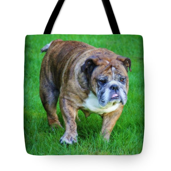 The Bulldog Shuffle Tote Bag by Jeanette C Landstrom