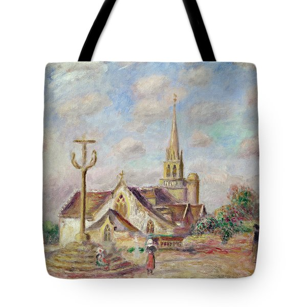 The Calvary At Pont Aven Tote Bag by Pierre Auguste Renoir
