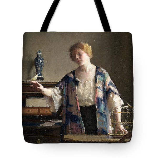 The Canary Tote Bag by William McGregor Paxton