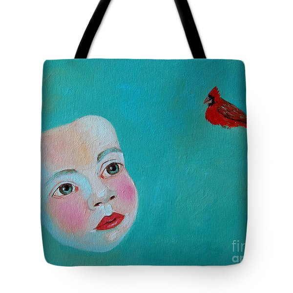 The Cardinal's Song Tote Bag by Ana Maria Edulescu