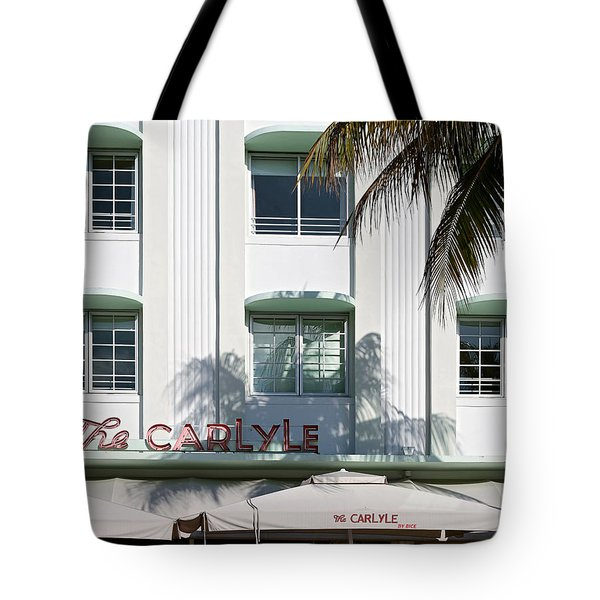 The Carlyle Hotel 2. Miami. Fl. Usa Tote Bag