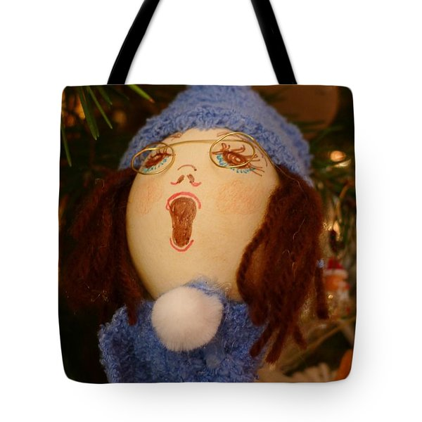 Tote Bag featuring the photograph The Carol Singer by Richard Reeve