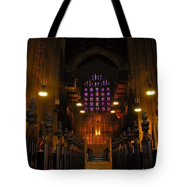 The Chapel At Valley Forge Park Tote Bag by Cindy Manero