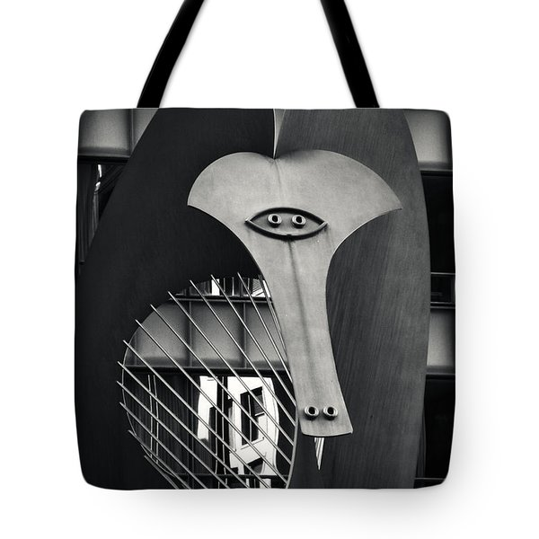 The Chicago Picasso Tote Bag by Adam Romanowicz