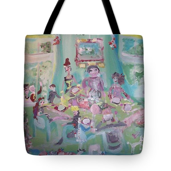 The Christmas Dinner Tote Bag by Judith Desrosiers