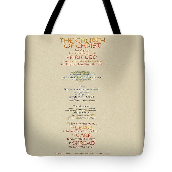 The Church Of Christ In Every Age I Tote Bag by Judy Dodds
